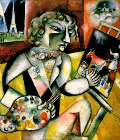 Self-Portrait with Seven Fingers is a 1913 painting by Marc Chagall.