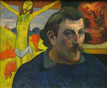Self-Portrait with Yellow Christ, by Paul Gauguin (c. 1889-1891).