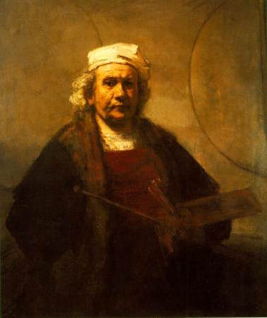 A 1661 Self-Portrait of Rembrandt.