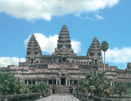 The Angkor Wat temple complex.