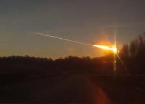 The Chelyabinsk meteor.
