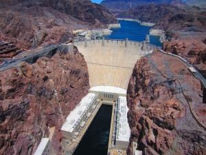 A view of Hoover Dam.
