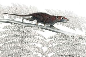 An artist's imagining of Juramia sinensis.