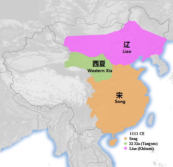 A map of China shortly after the Chanyuan Treaty.