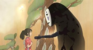 A still image from Spirited Away.