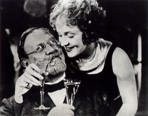 Emil Jannings and Marlene Dietrich in von Sternberg's The Blue Angel.