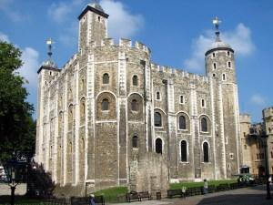 The White Tower, the original Tower of London.