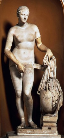 The Venus Colonna, in the Vatican Museums, is considered the most faithful Roman copy of the lost Greek original.