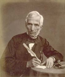 An 1860 daguerrotype of Antoine Claudet by Thomas Rodger.