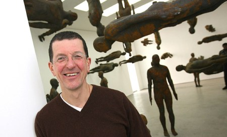 Anthony Gormley with the installation 'Firmament.'