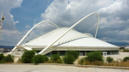 The renovated Olympic Athletic Center of Athens, in Athens, Greece was designed by Santiago Calatrava.