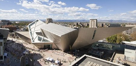 The Hamilton Building at the Denver Art Museum in Denver, Colorado.