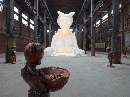 Installation view of A Subtlety... by Kara Walker, in Brooklyn New York. Photo by Jason Wyche.