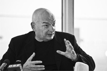 A 2009 photograph of Jean Nouvel by Christopher Ohmeyer.
