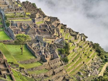 A view of Machu Picchu in the Andes of Peru.