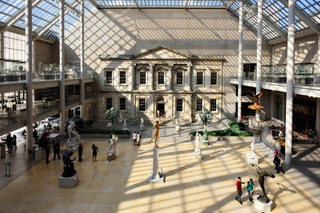 An interior view of the Metropolitan Museum of Art in New York City.