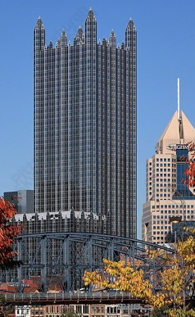 PPG Place, by ___, in Pittsburgh, Pennsylvania.