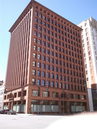 The Prudential Building (formerly the Guaranty Building), by Louis Sullivan and Denkmar Adler, in Buffalo, New York.