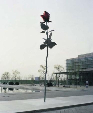 Rose, by Isa Genzken, in Leipzig, Germany.