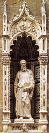 St. Mark, by Donatello, at the Orsanmichele Church in Florence, Italy.