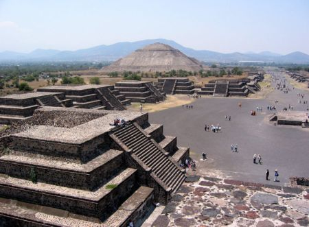 The ruins of Teotihuacan, near Mexico City.