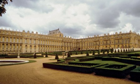 The Palace of Versailles, in Versailles, France.