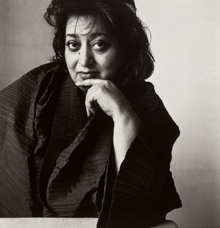 A 1995 photographic portrait of Zaha Hadid by Irving Penn. Courtesy of the Irving Penn Foundation.