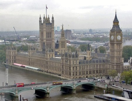 Palace of Westminster. Location: London, UK.
