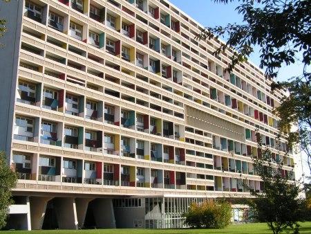 Unité d'habitation (1952). Architect: Le Corbusier. Location: Marseilles. France.