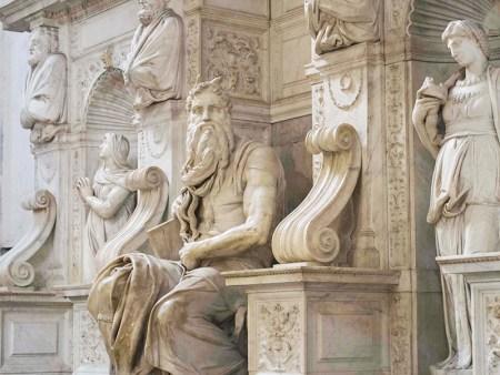 Michelangelo's Moses in San Pietro Church, Vincoli, Italy.