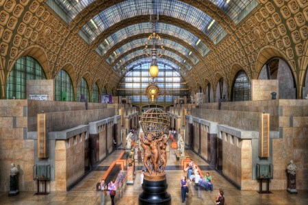 An interior view of the Musée d'Orsay in Paris.