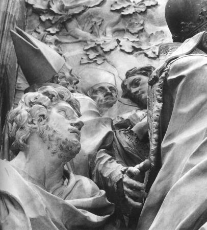 Allesandro Algardi's marble rendering of the legendary meeting between Pope Leo I and Attila the Hun at the gates of Rome brought relief sculpture back into fashion in Italy.