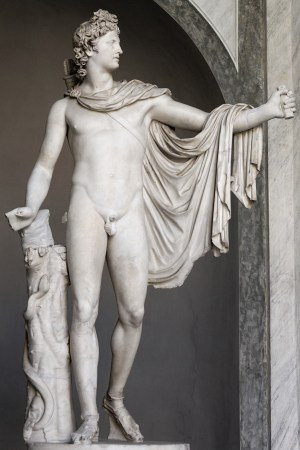 The Apollo Belvedere is a 2nd Century CE Roman marble copy of Leochares' lost bronze original.