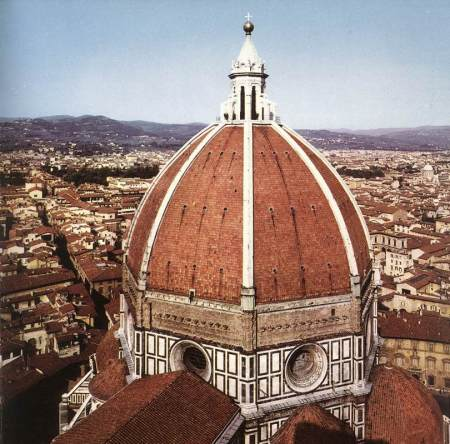 Filippo Brunelleschi solved the complex architectural problem of capping the Florence Cathedral with a dome. It is his greatest achievement.