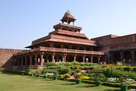 Among the remarkable buildings in the planned city of Fatepur Sikri is the Panch Mahal palace, shown here.