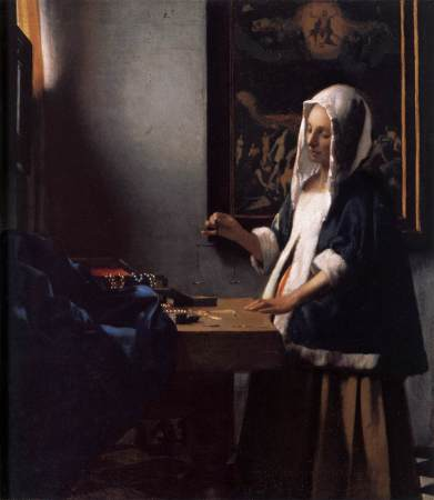 The inclusion of a painting of The Last Judgment in the background of Vermeer's Woman Holding A Balance has led many to conclude that it is a religious allegory or parable.