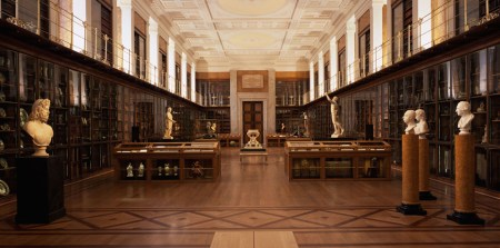 The King's Library (shown here), designed by Robert Smirke, was the first room of the British Museum to be completed.