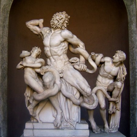 According to Pliny the Elder, he saw Laocoön and His Sons at the palace of Roman Emperor Titus in the 1st Century CE.