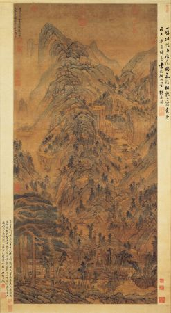Huang Gongwang's painting Stone Cliff at Heavenly Pond.