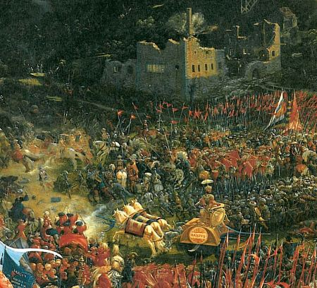 Detail from Albrecht Altdorfer's The Battle of Issus.