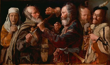The Musicians' Brawl, an early work by Georges de la Tour.