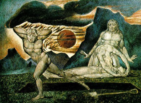 William Blake's The Body of Abel found by Adam and Eve.