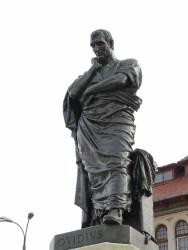 The statue of Ovid in Constanţa, Romania was created in 1887 by Italian sculptor Ettore Ferrari.