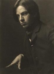 A 1905 self portrait by Alvin Langdon Coburn.