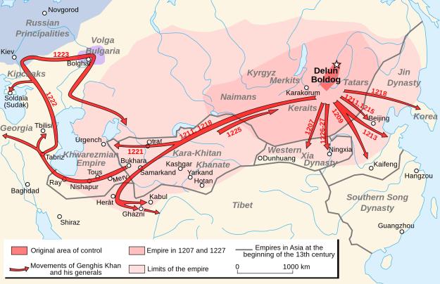 Genghis Khan's empire.