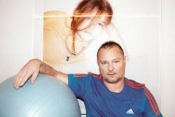 """Self-Portrait After Workout"", a 2013 photograph by Juergen Teller."