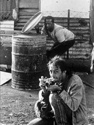 An undated photograph of Kevin Carter (lower right) in South Africa. Photo by Guy Adams.