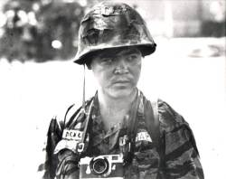 A 1970 photo of Nick Ut taken by an unknown Vietnamese Army soldier in the Mekong Delta.