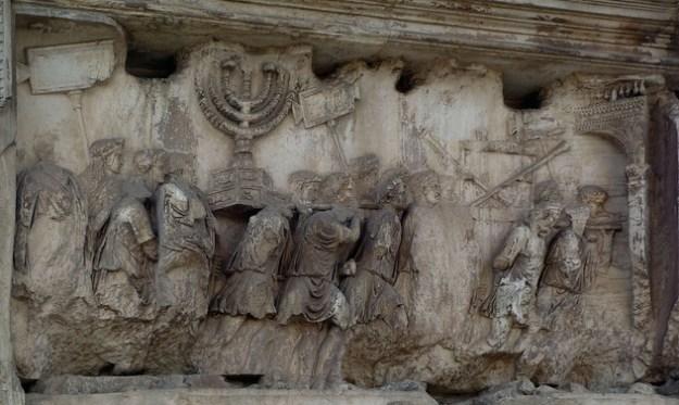 arch of titus spoils of jerusalem
