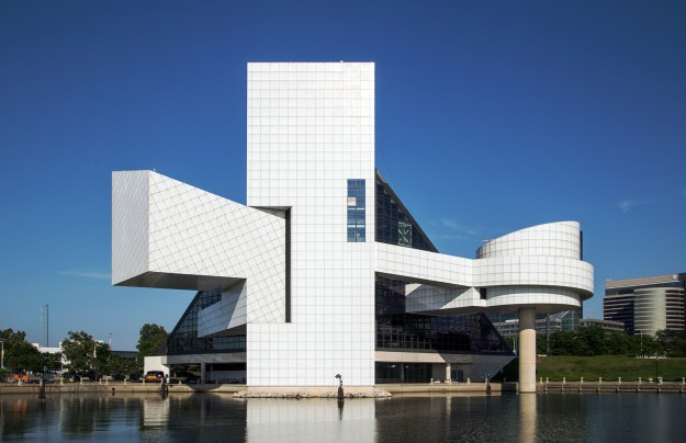 20140810. The rear view of the great I.M Pei's Rock and Roll Hal